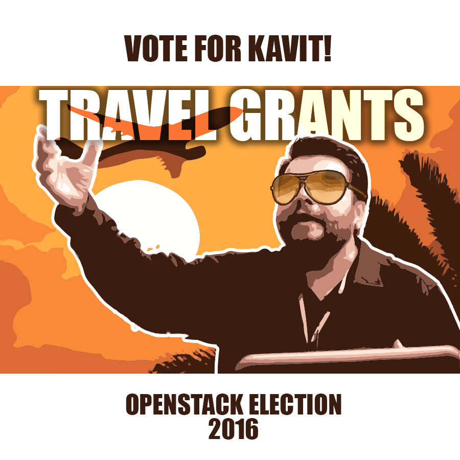 Aptira OpenStack - Vote For Kavit - Travel Grants Propaganda Image