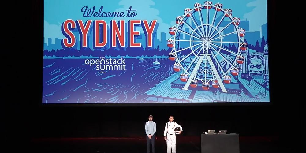 OpenStack Summit Sydney: Tristan Goode Tom Fifield Keynote